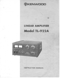 Service and User Manual Kenwood TL-922A