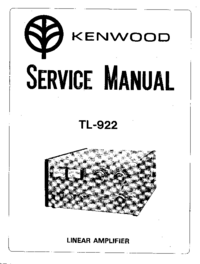 Manual de servicio Kenwood TL-922