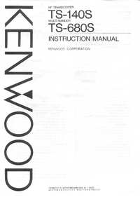 Servicio y Manual del usuario Kenwood TS-680S