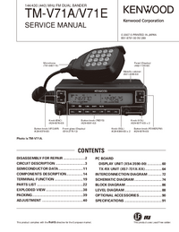 Service Manual Kenwood TM-V71A