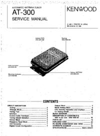 Manual de serviço Kenwood AT-300