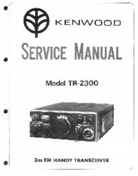 Serviceanleitung Kenwood TR-2300