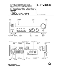 Service Manual Kenwood VR-605