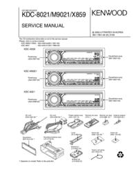 Руководство по техническому обслуживанию Kenwood KDC-M9021