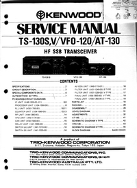 Service Manual Kenwood TS-130S