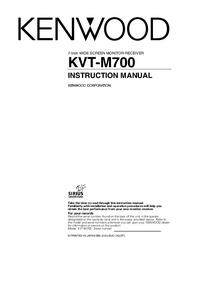 User Manual Kenwood KVT-M700