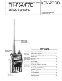 Service Manual Kenwood TH-F7E