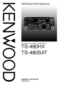 User Manual Kenwood TS-480SAT