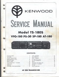 Manual de servicio Kenwood TS-180S