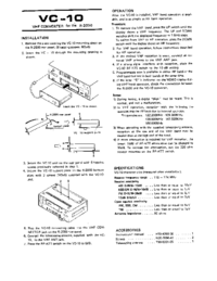 Manual de servicio Kenwood VC-10