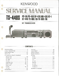 Service Manual Kenwood TS-440S