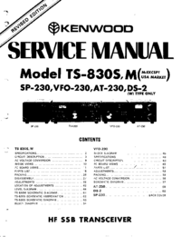 Service Manual Kenwood TS-830S