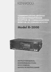 Manual del usuario Kenwood R-2000