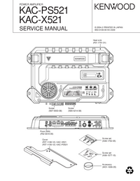 Service Manual Kenwood KAC-X521