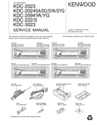 Manual de servicio Kenwood KDC-3023
