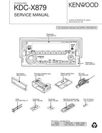 Manuale di servizio Kenwood KDC-X879