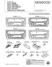 Manual de servicio Kenwood KDC-MPV8025