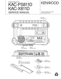 Service Manual Kenwood KAC-X811D