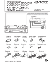 Manual de servicio Kenwood KVT-715DVD
