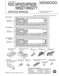 Service Manual Kenwood KDC-W6027