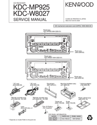 Service Manual Kenwood KDC-W8027