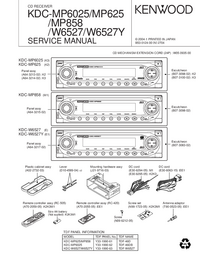 Manual de servicio Kenwood KDC-W6527