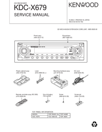 Manual de serviço Kenwood KDC-X679