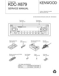 Service Manual Kenwood KDC-X679