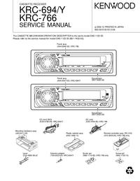 Manuale di servizio Kenwood KRC-766
