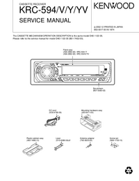 Service Manual Kenwood KRC-594 Y