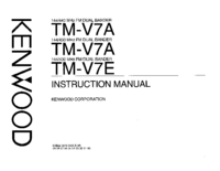 Manual do Usuário Kenwood TM-V7E
