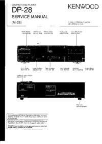 Service Manual Kenwood DP-28
