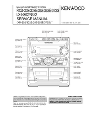 Service Manual Kenwood RXD-352E