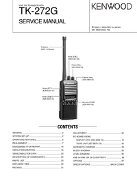 Service Manual Kenwood TK-272G