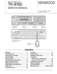 Service Manual Kenwood TK-8160