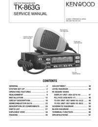 Manual de serviço Kenwood TK-863G