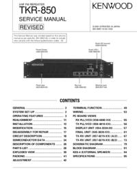 Servicehandboek Kenwood TKR-850