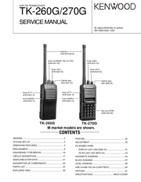 Service Manual Kenwood TK-260G