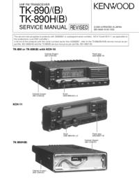 Руководство по техническому обслуживанию Kenwood TK-890