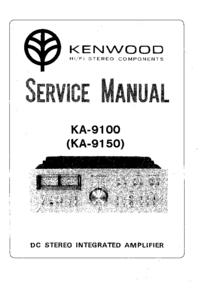 Service Manual Kenwood KA-9100