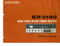 User Manual Kenwood KR-5150