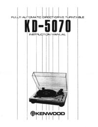 Manual de serviço Kenwood KD-5070