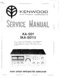 Manual de servicio Kenwood KA-501