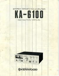 Bedienungsanleitung Kenwood KA-6100
