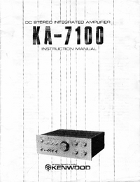 User Manual Kenwood KA-7100
