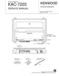 Service Manual Kenwood KAC-7203