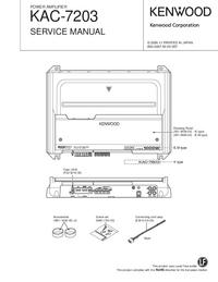 Manual de serviço Kenwood KAC-7203