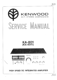 Service Manual Kenwood KA-8011