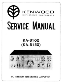 Manual de serviço Kenwood KA-8100