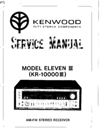 Service Manual Kenwood ELEVEN III